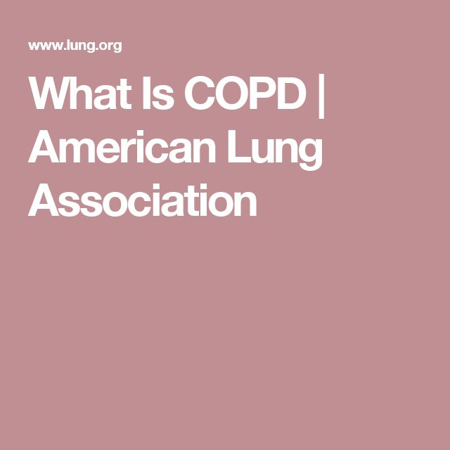 What Is COPD   American Lung Association