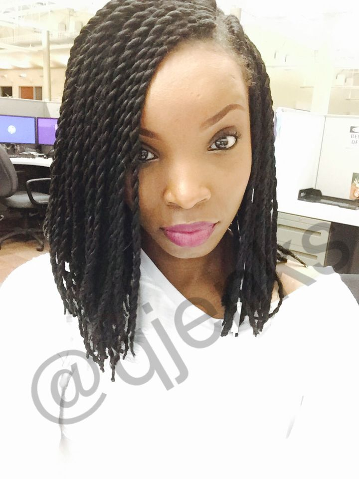 Crochet Senegalese twists (medium bob)