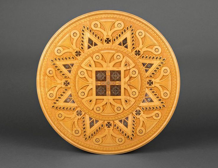 This plate - exclusive hand-crafted decoration. It can be made of walnut and & 11 best Decorative wooden wall plates images on Pinterest | Wall ...