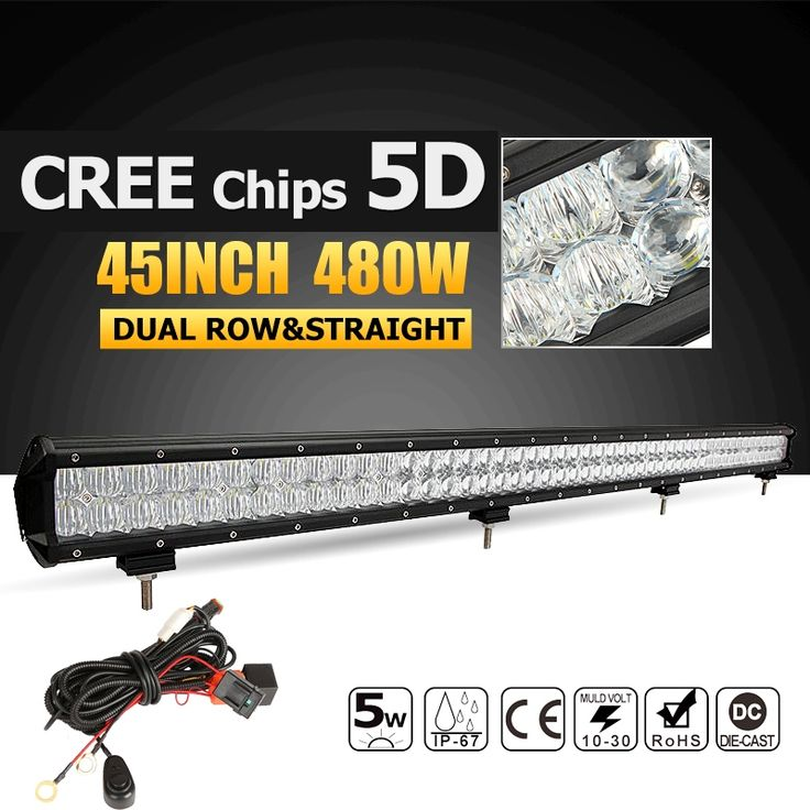 134.55$  Buy here - http://alia0y.worldwells.pw/go.php?t=32785050592 - Oslamp 45inch 5D LED Light Bar CREE Chips 480W Offroad Led Work Light Combo Beam Driving Light Bar for Truck SUV 4WD 4x4 12v 24v