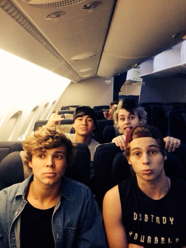 "(Open RP. be one of the 5SOS members, preferably Michael or luke) I sit on the plane listening to Heartbreak Girl hearing boy's voices behind me. I turn a round ""Hey could you quiet down i'm listening to 5 Seconds O--"" I stop seeing Michael Clifford, Calum Hood, Ashton Irwin, and Luke Hemmings behind me. ""What where you saying?"" Luke asks. ""Oh my gosh..."" I mutter. ""Hi!!!"" Michael says. My eyes widen. ""Hey!"" Calum says and waves at me. I just stare at them in disbelief. (Credit to…"