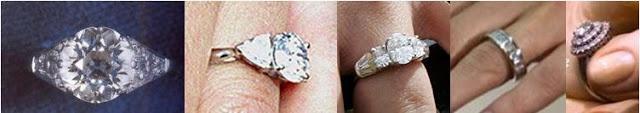 Royal Engagement Rings Left to Right: Queen Elizabeth; Sophie, Countess of Wessex; Autumn Philips; Princess Letizia; Queen Beatrix