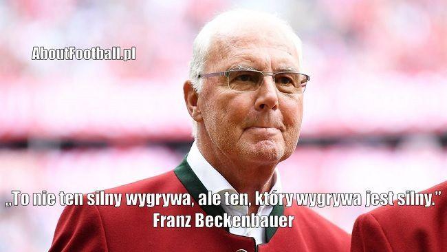 Franz Beckenbauer cytaty piłkarskie • To nie ten silny wygrywa, ale ten, który wygrywa jest silny • Zobacz najlepsze cytaty piłkarskie #beckenbauer #pilkanozna #futbol #sport #cytat #cytaty #motywacja