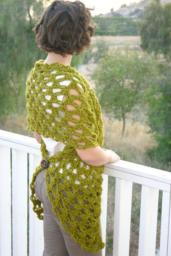 Crochet Pattern The Any Way Wrap van TwigAndString op Etsy, $5.00