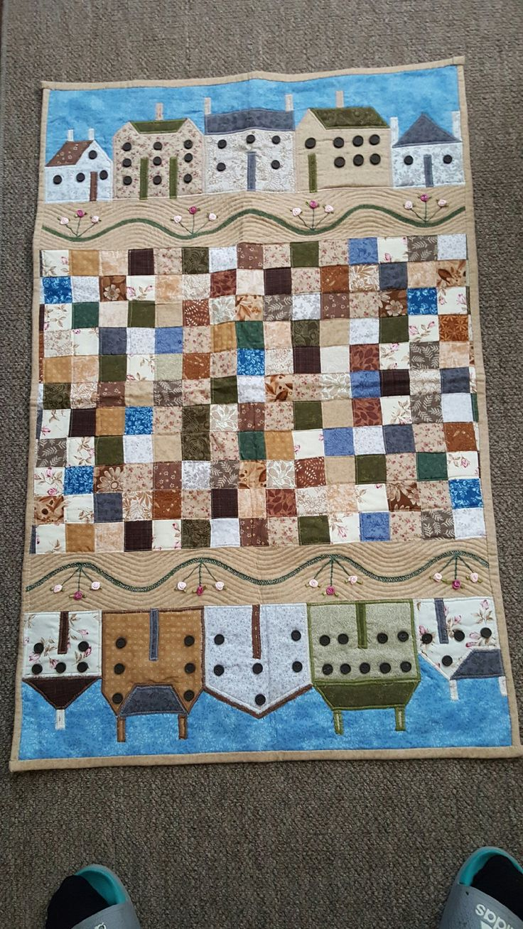 Quilt, Wall Hanging,Folkart Wall Quilt,Primitive Wall Quilt,Lap Quilt,Table Quilt,Applique Wall Quilt,Wall Quilt,Patchwork Quilt,Applique by MulberryFarms on Etsy