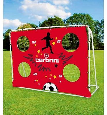 Carbrini 7ft x 5ft 3-in-1 Target Football Goal Enjoy hours of fun with this fantastic three in one all purpose football goal from Carbrini. It features a black rebounder net and red Carbrini target shooting net with elasticated boundary cords and  http://www.comparestoreprices.co.uk/football-equipment/carbrini-7ft-x-5ft-3-in-1-target-football-goal.asp