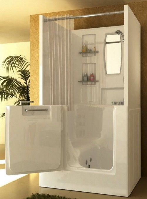 Bathroom Remodeling: Safe Walk in Tubs and Showers Interiorforlife.com This would be great for mom. Shower safety