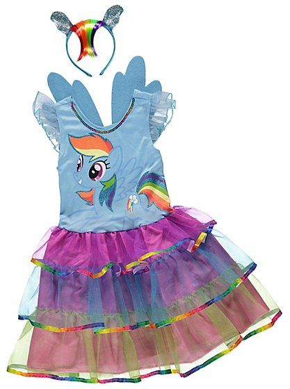 My Little Pony Rainbow Dash Fancy Dress Costume, read reviews and buy online at George at ASDA. Shop from our latest range in Kids. They'll be the prettiest ...