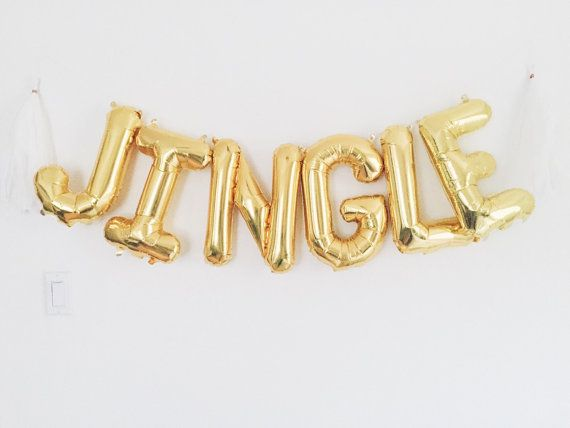 JINGLE balloon banner kit    Celebrate Christmas with these statement balloons! Includes everything you need to create a balloon banner    Listing