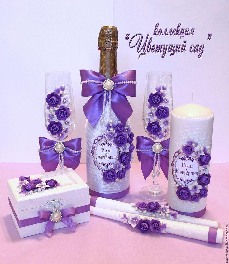 Купить или заказать Свадебный набор аксессуаров, коллекция 'Цветущий сад' в интернет-магазине на Ярмарке Мастеров. коллекция 'Цветущий сад'