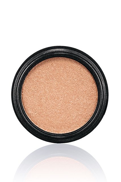 This Is How MAC Does A Romance Novel #refinery29  http://www.refinery29.com/mac-novel-romance-makeup-collection-fall-2014#slide18  MAC Electric Cool Eyeshadow in Gilded Thrill, $21, available August 14 at MAC Cosmetics.