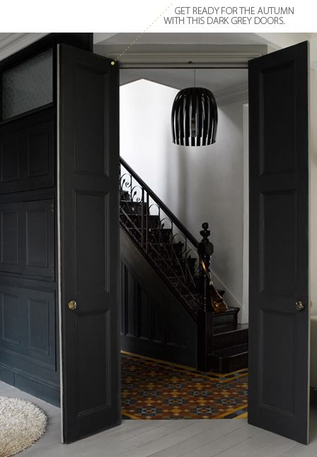 stairwell...love this idea to hide a staircase and hallway to private areas of the home. Could be right off the entrance and the main hall, with a similar entry at the south end of the entry, near the living area.
