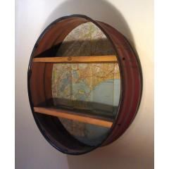 Oil Drum shelf - reclaimed oil barel