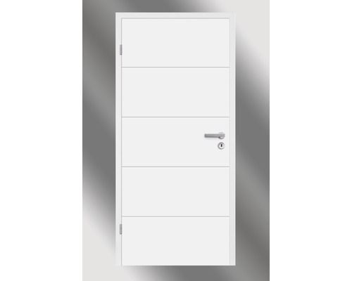 Zimmertür Pertura Perla 05 Weißlack weiß 61,0x198,5 cm Links bei HORNBACH kaufen