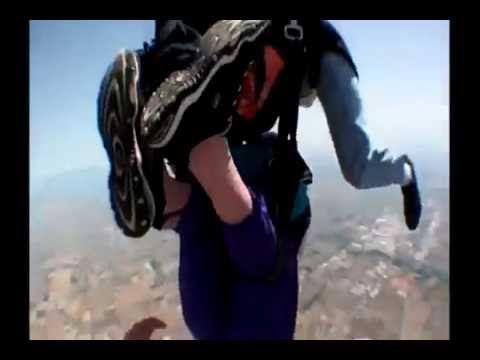 Lady Slips Out of Parachute When Skydiving - YouTube