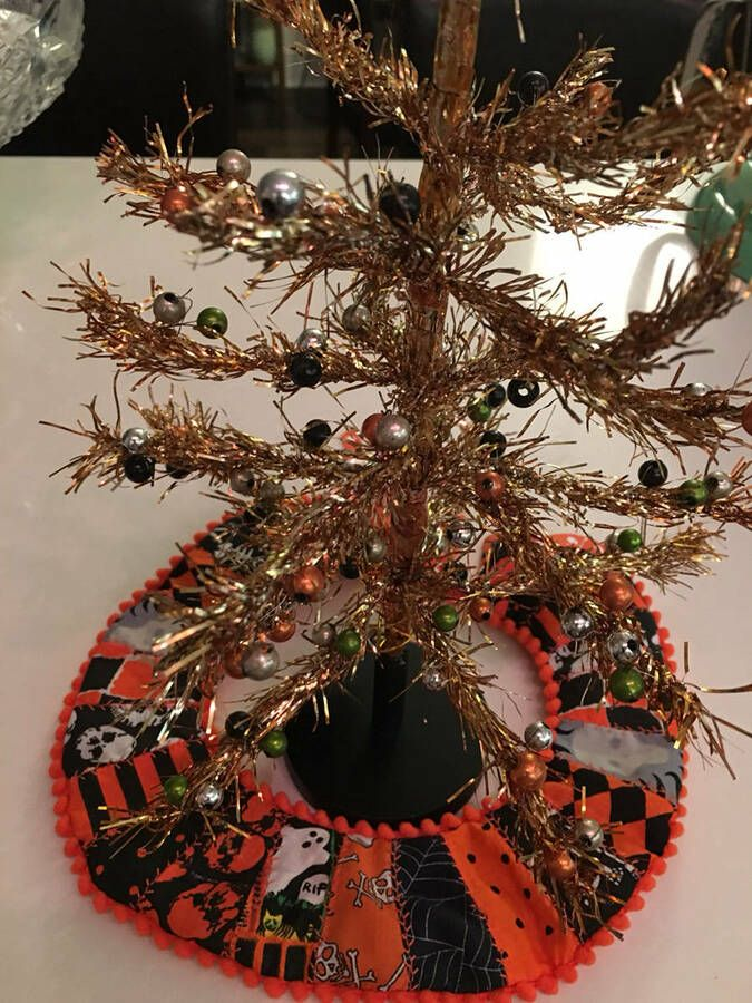 Details about Halloween Tree Skirt Mini Handmade 9