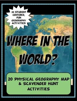 One of our best sellers is now available in a bundle of 20 geography activities! Save big by buying them all at a discount. These versatile geography lessons are completely student driven, fun and interactive. They can be done with any textbook map or atlas that has general area physical geography.