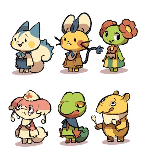 Sorry for reposting. I found that I draw Audino's ear wrong… Check myPokemon Crossing tagfor more Pokemon villagers!