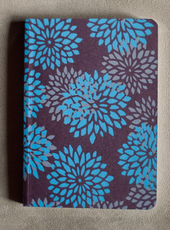 Flowery notebook by notoshop on Etsy
