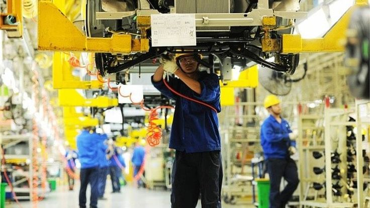 Chinese manufacturing shrinks for a third month in a row, according to the government's latest factory survey.