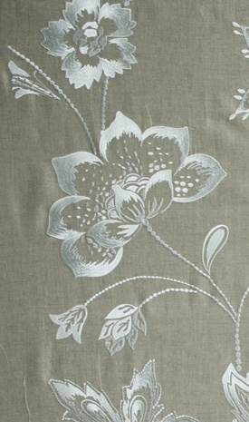 Petiole embroiderde fabric, Nina Campbell