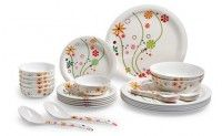 Rs 999 for 28+2 Pcs Melamine Dinner set worth Rs 2195. Valid at all super markets in Surat, Chennai and Ahmedabad.