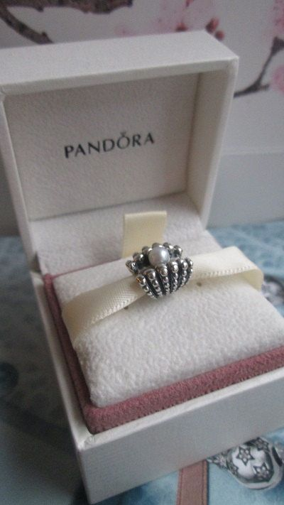 Authentic Pandora One of A Kind Shell Beach Pearl Charm For Bracelet with BOX! on Etsy, $34.99