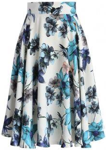 POSHme - Chicwish květinová sukně Camellia