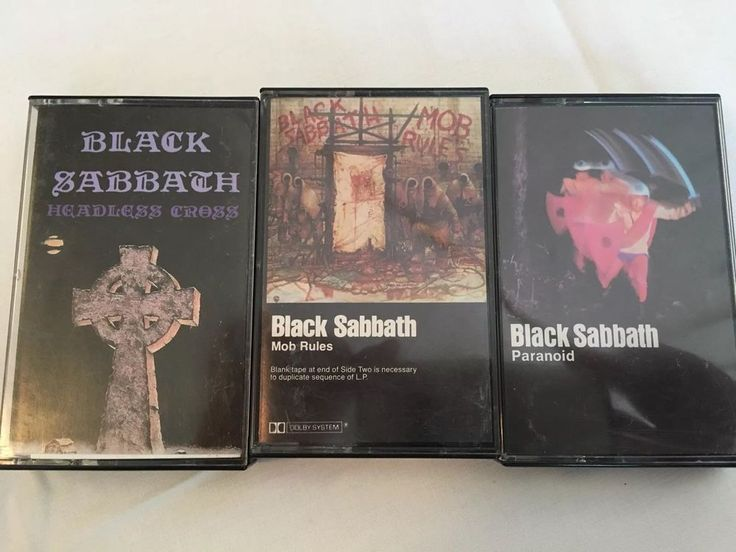 Black Sabbath Three Cassettes: Headless Cross Paranoid Mob Rules