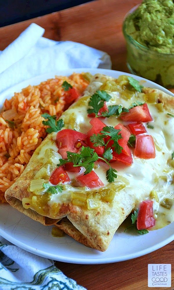 If you need an easy dinner recipe that tastes AH-mazing, you've landed on the right page! Easy Baked Chicken Chimichangas | by Life Tastes Good are better than restaurant quality (imho) and made easy with a delicious short cut. I'm so excited to share my super secret shortcut recipe with you! #chimichangas #mexicanfood #easyrecipe #kitchenhack #chickenrecipe #texmex
