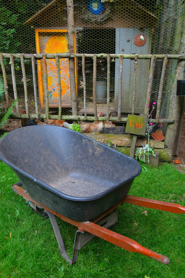 Have a crack in your plastic wheelbarrow? Stitch it!