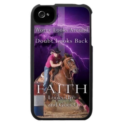 Barrel Racing Faith Iphone Case