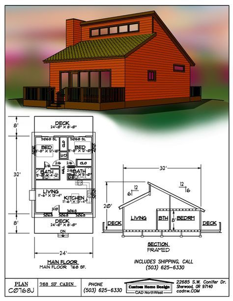 82 best tiny house photo tours images on pinterest small for House plans with clerestory windows