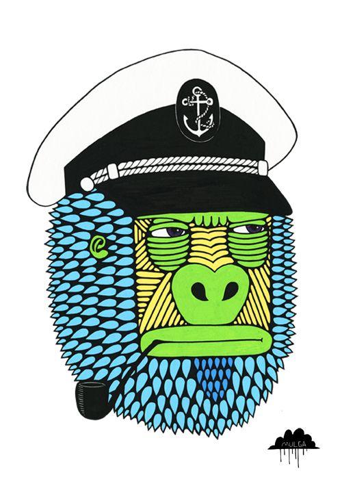 Captain-cranky-gorilla-by-Mulga-the-Artist