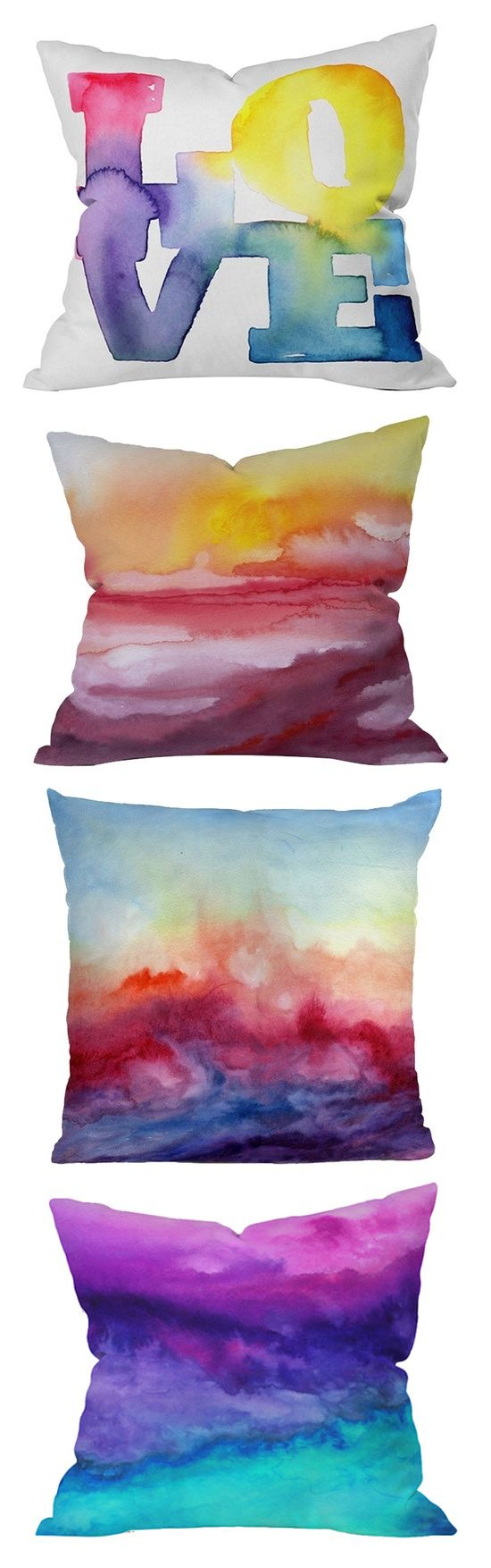 Sharpie DIY projects - I like the watercolor pillow idea