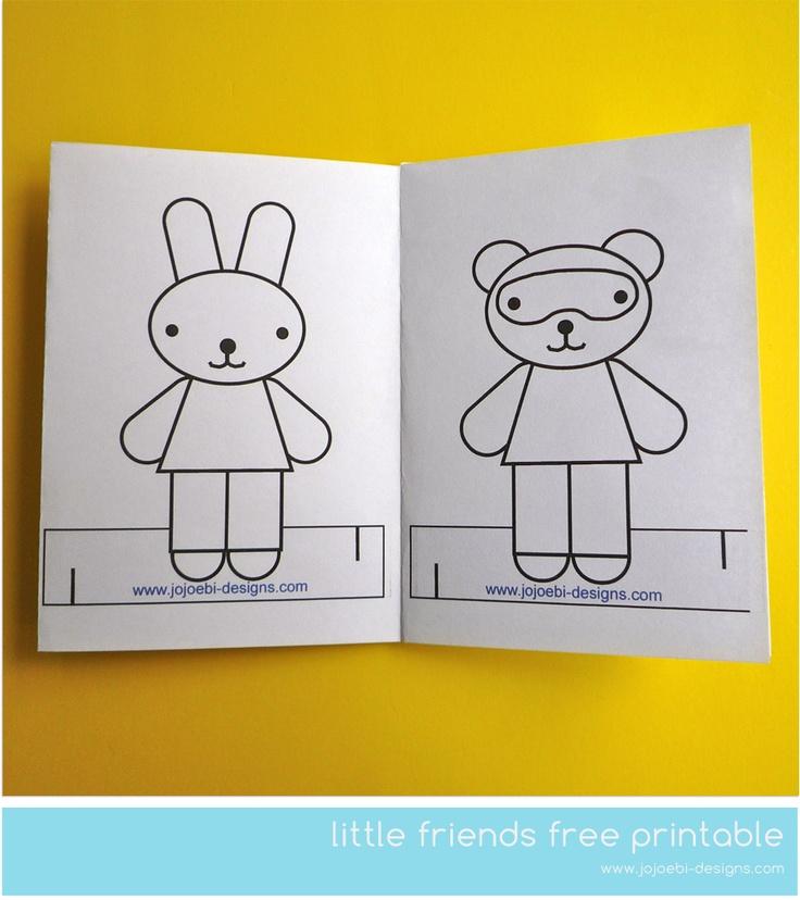 Adorable Little Printable Free Colouring Sheet