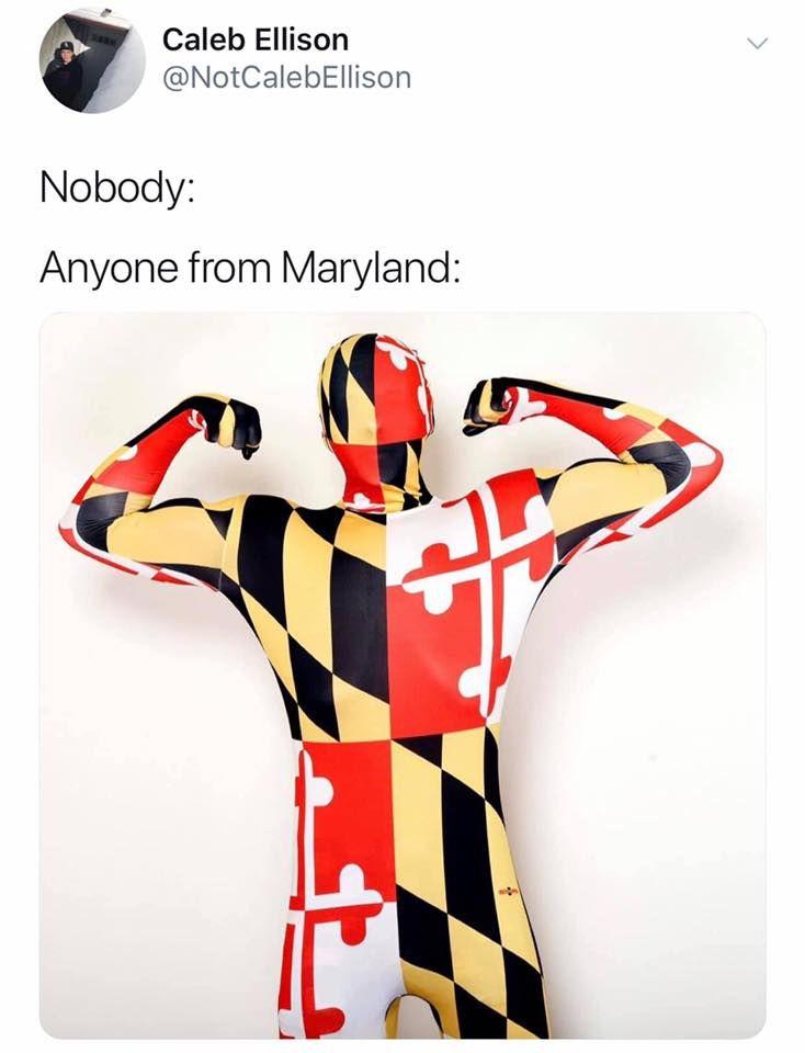 Maryland Flag Body Suit Maryland Flag Maryland Funny