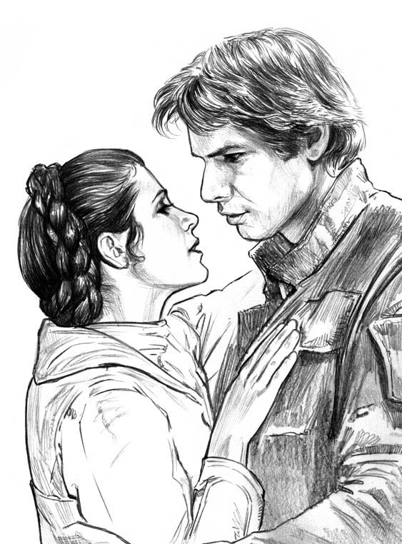 Han and Leia by jasonpal.deviantart.com