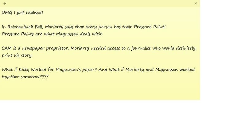 """Possible Moriarty - Magnussen link??? This would also explain why all of Rich Brook's """"clippings"""" were not actually cut from a paper, but rather proof copies from a page layout software... with CAM's help he'd have no problems making mock articles like that. Like CAM said himself """"I don't need facts, I just need to print it"""""""