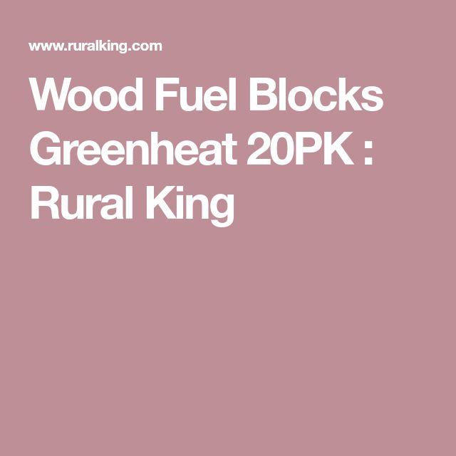 Wood Fuel Blocks Greenheat 20PK : Rural King