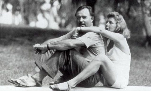 Hemingway & soon to be third wife Martha Gellhorn in Spain.