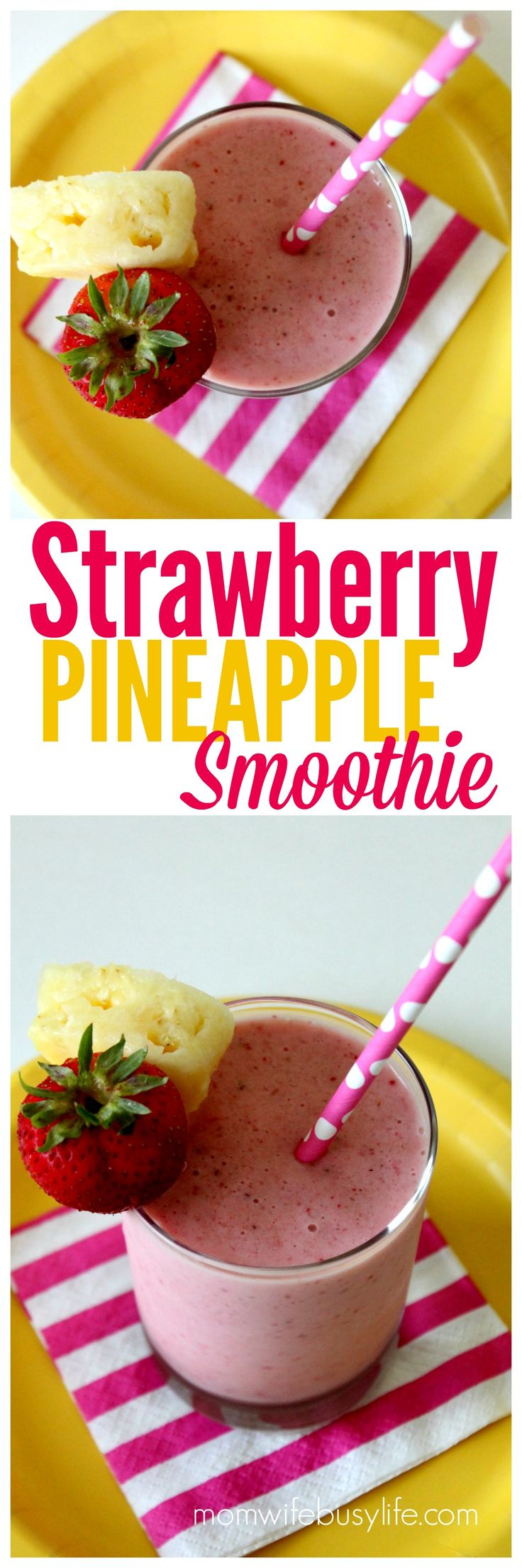 Strawberry Pineapple Smoothie Recipe | Fresh Fruit Smoothie Recipes | Healthy Smoothies