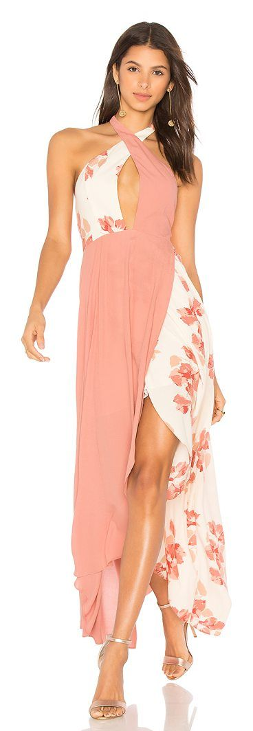 x REVOLVE Sarah Dress by Privacy Please. In the flow of things with the Sarah Dress by Privacy Please. Elongating your frame in a lightweight colorblocked fab...