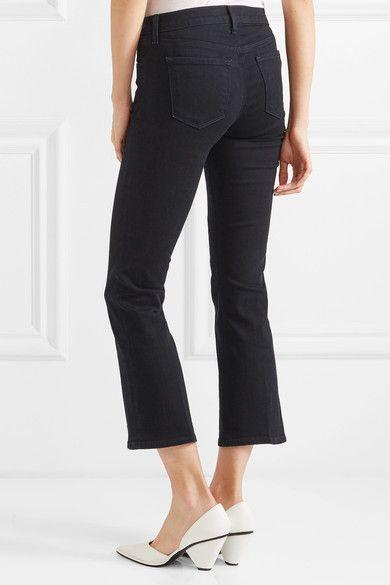 J Brand - Selena Cropped Mid-rise Flared Jeans - Dark denim - 27