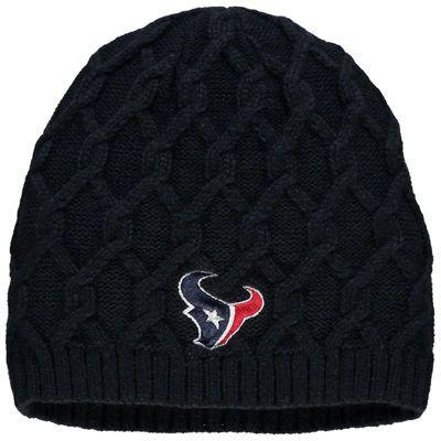 Houston Texans Pro Line Women's Braided Knit Beanie - Navy