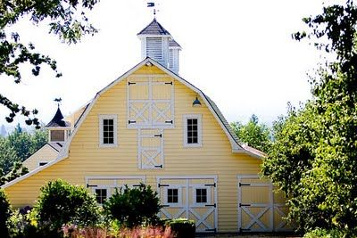 gorgeous yellow barn