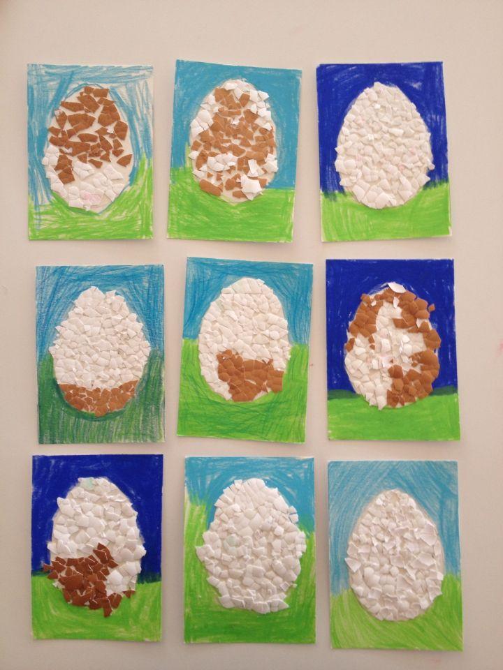 Bild aus Eierschalen