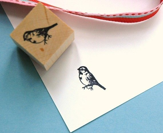 finch rubber stamp... I like it for a tattoo.