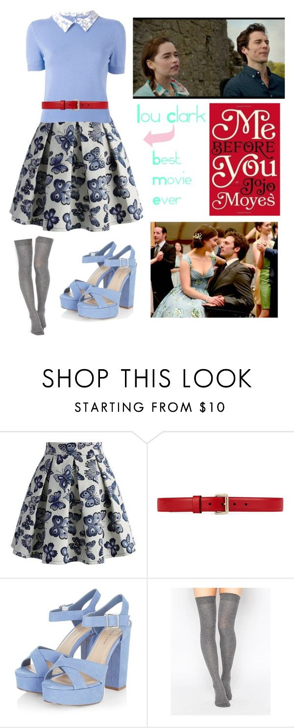 """""""Me before you // Lou Clark"""" by beth-why-not ❤ liked on Polyvore featuring Chicwish, Olympia Le-Tan, Gucci and ASOS"""