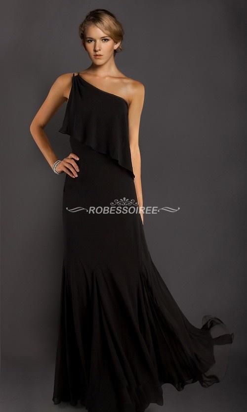 Robe De Bal Longue D'une Bretelle RSR0026